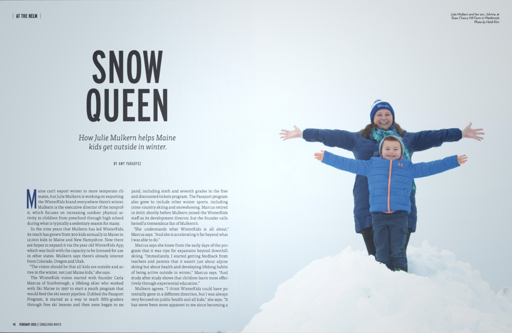 Maine Women Mag February 2020 Snow Queen 01