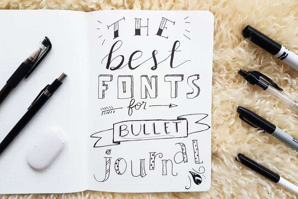 Bullet journal fonts to try that are easy