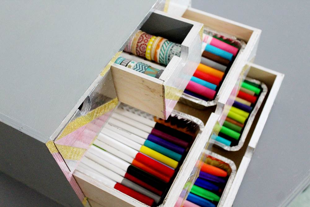 pen and washi tape organizer