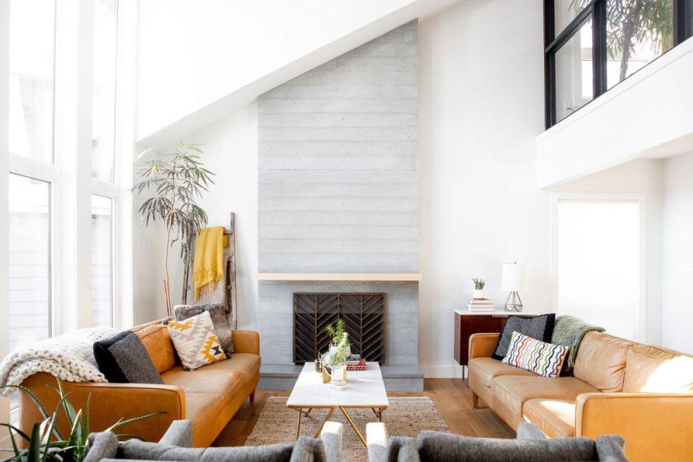 decluttered living room-shock treatment declutter method