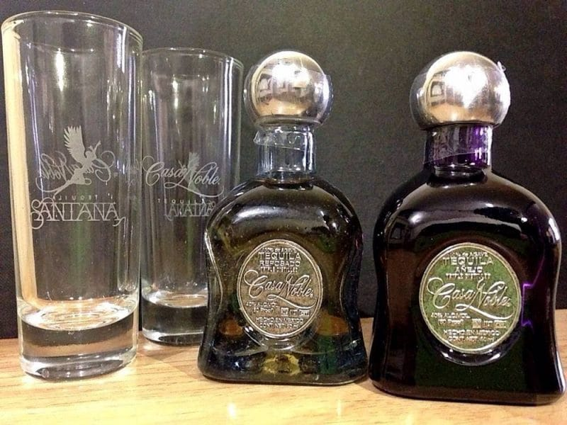 Casa Noble Tequila (Anejo & Reposado) and Shot Glasses