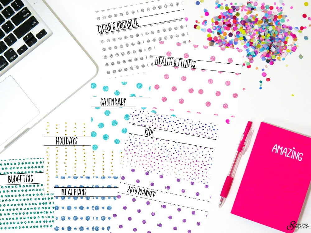 Free Half-Size Planner Covers and Dividers