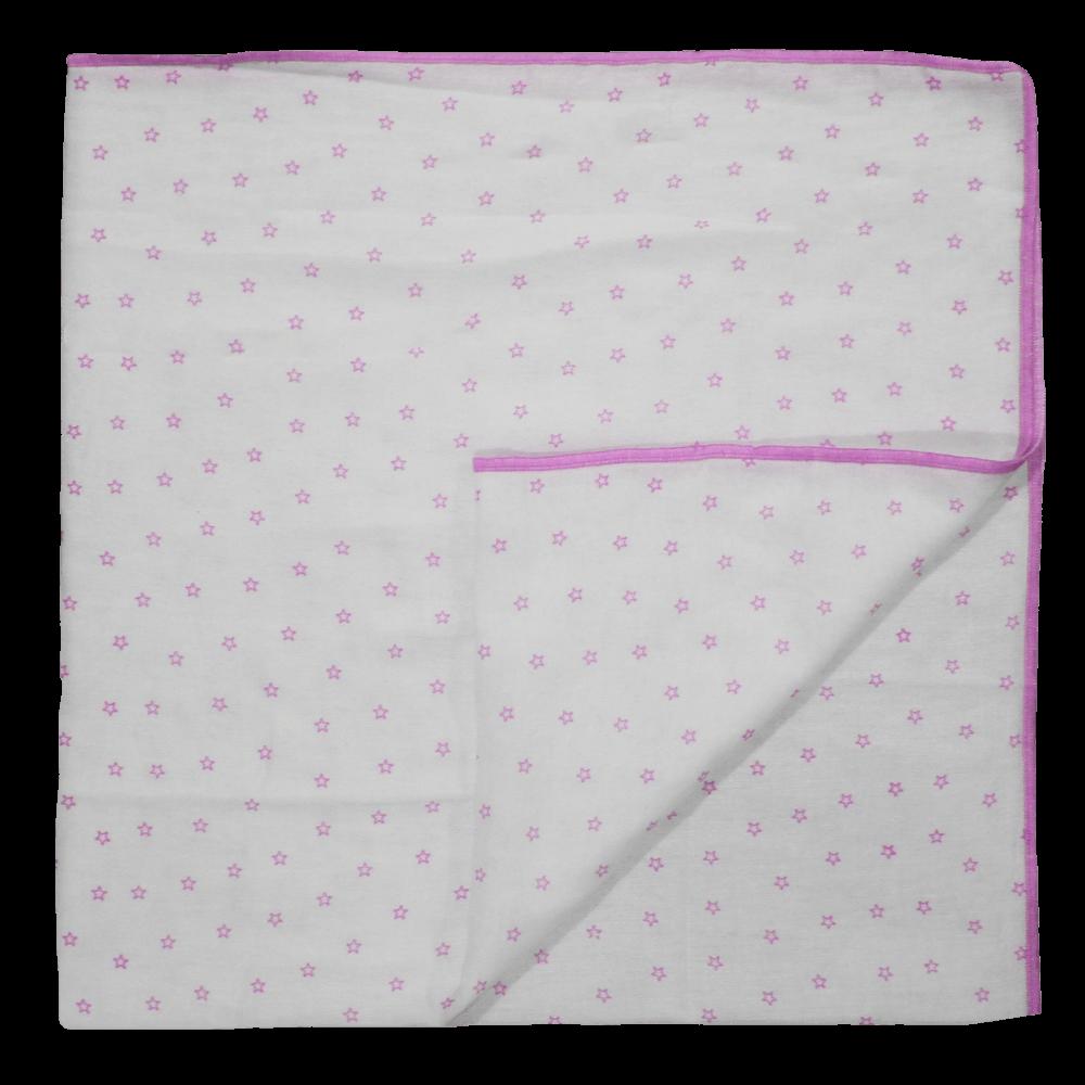 Velona Receiving Blanket - Pink Stars