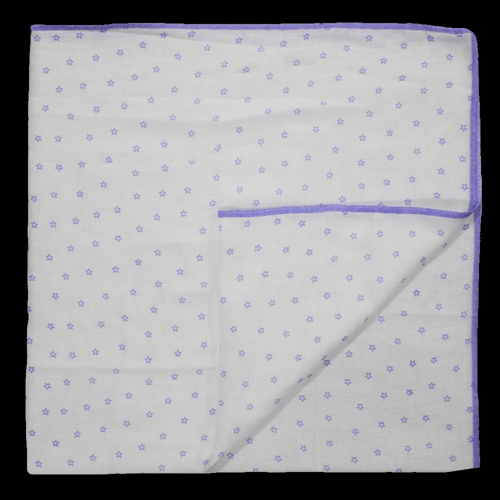 Velona Cotton Receiving Blanket - Purple Stars