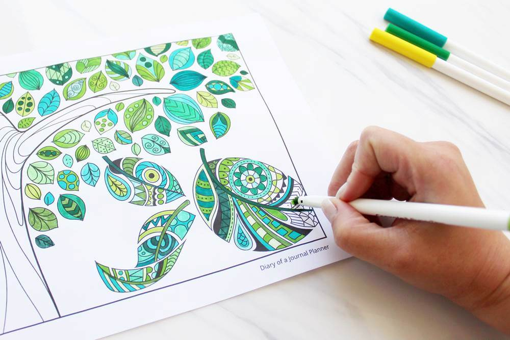 mindfullness coloring pages