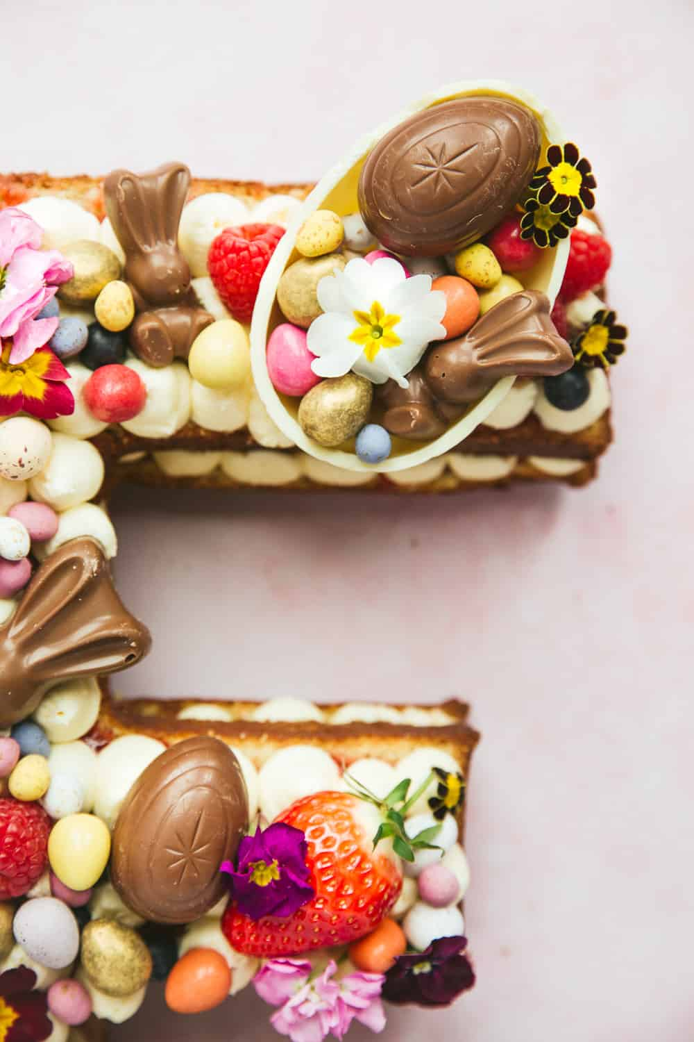 Easter chocolate on top of a cake