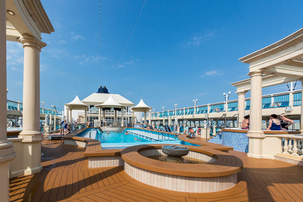 Pooldeck der Norwegian Spirit