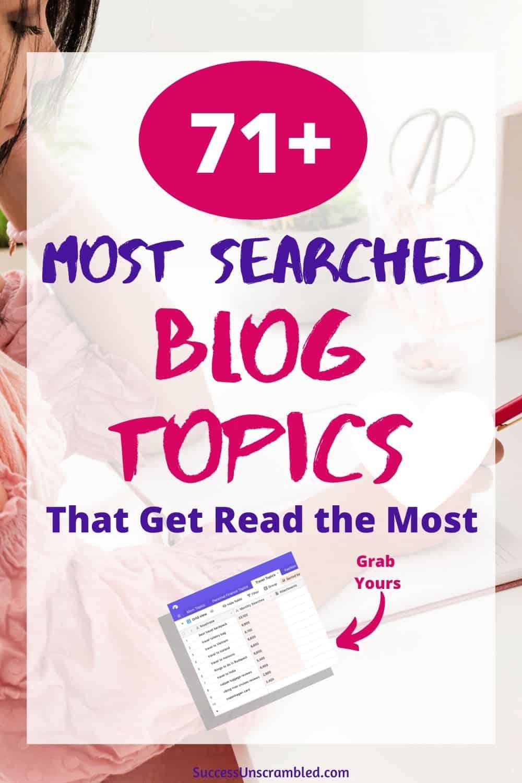 Most searched blog topics, high demand blog topics, most popular blog topics - pin 2