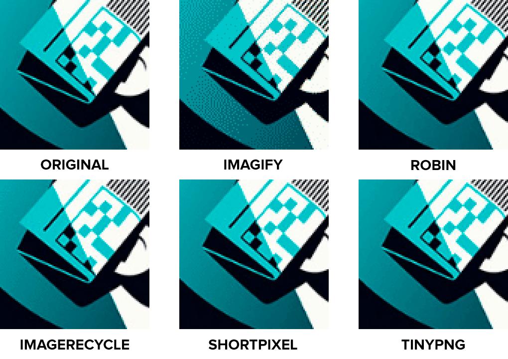 Comparativa de calidad de imagen usando PNG con ilustración