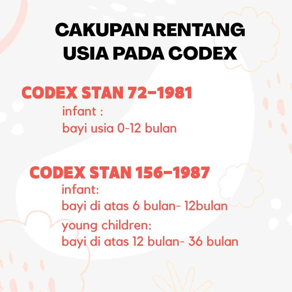 Codex produk susu anak