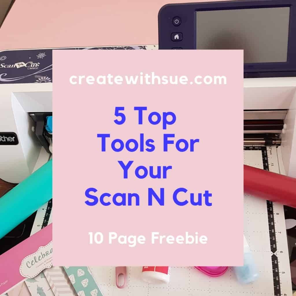 Main cover of the 5 Top Tools For Your Scan N Cut ebook
