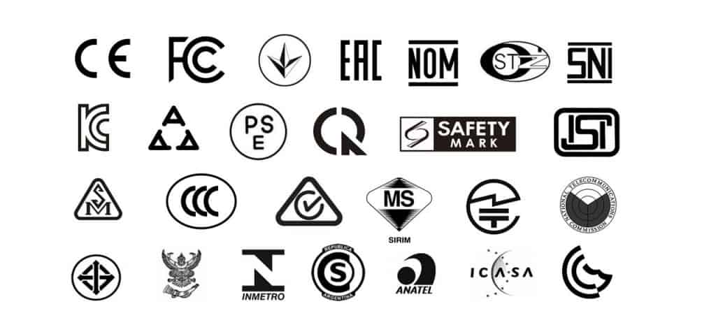 Country specific certification marks