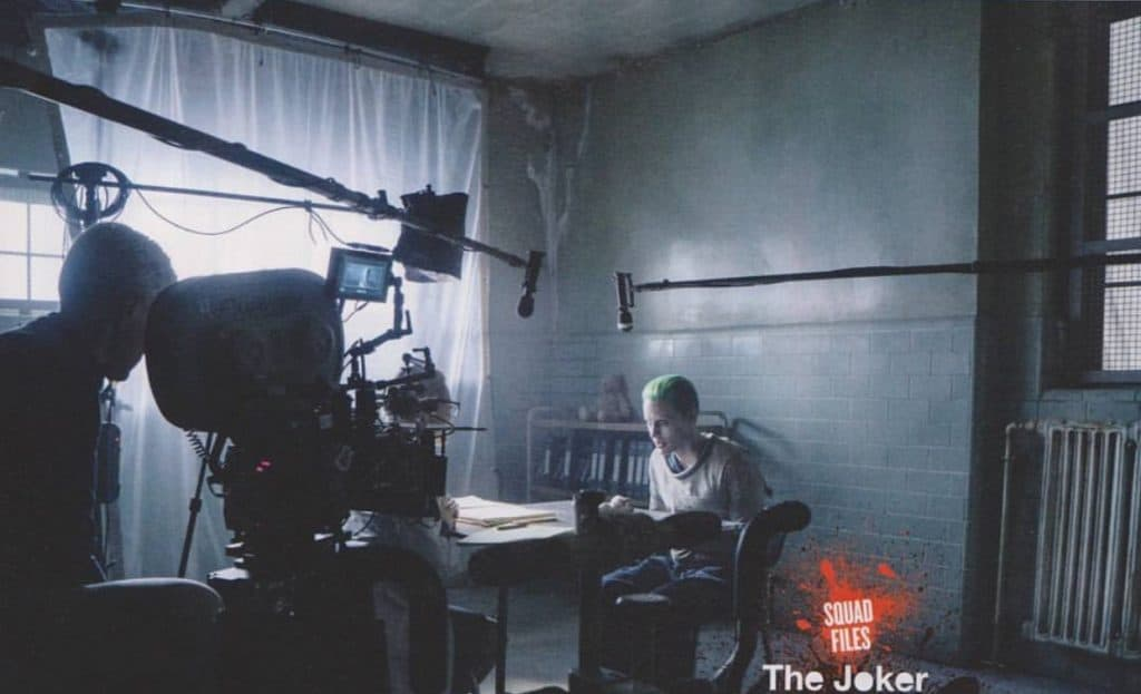 """(L-r) MARGOT ROBBIE as Harley Quinn and JARED LETO as The Joker on the set of Warner Bros. Pictures' action adventure """"SUICIDE SQUAD,"""" a Warner Bros. Pictures release. Photo credit Clay Enos/ ™ & © DC Comics"""