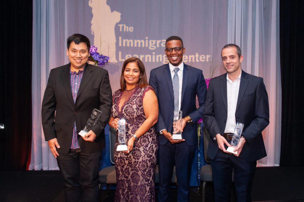 2019 Immigrant Entrepreneur Award Winners: Larry Kim, Yessy Feliz, Joseph Ngaruiya, Bernat Olle