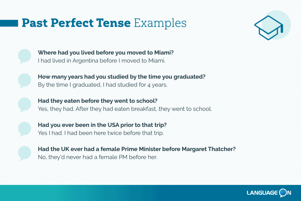 Past Perfect Tense Examples