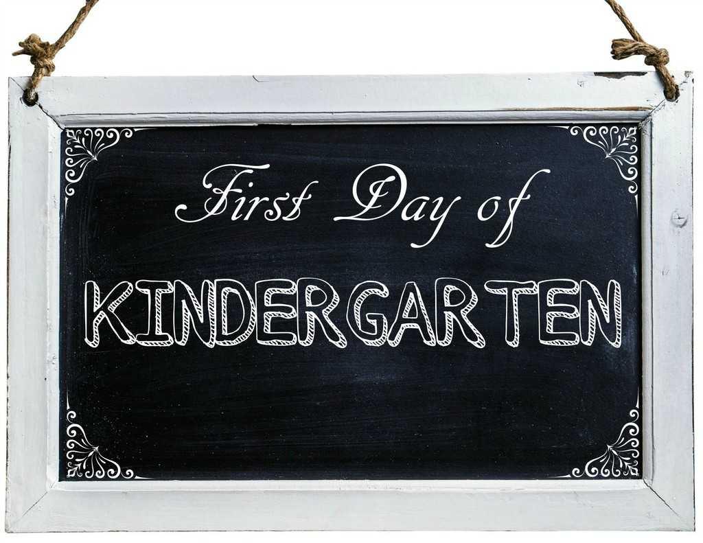 Free First Day of School Photo Printables-Kindergarten