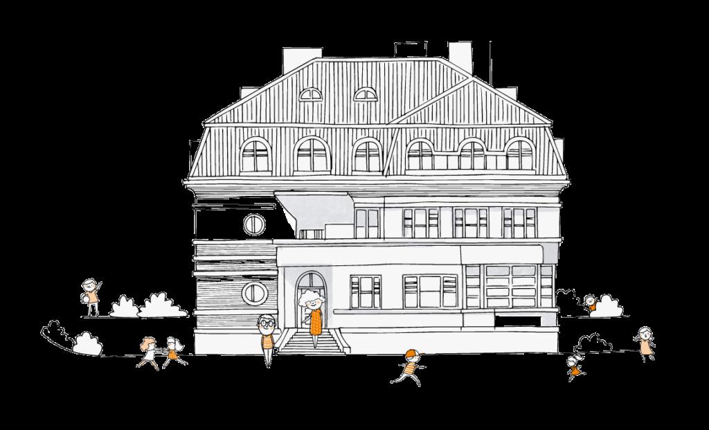 Budova soukromé česko - anglické základní školy v Praze