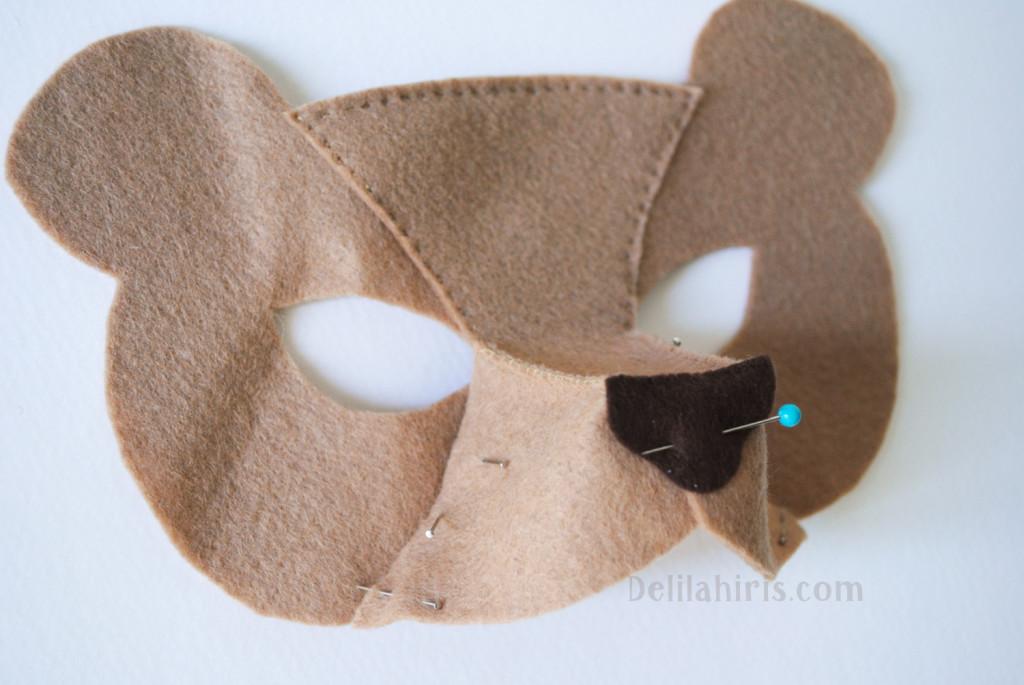 DIY felt bear mask tutorial