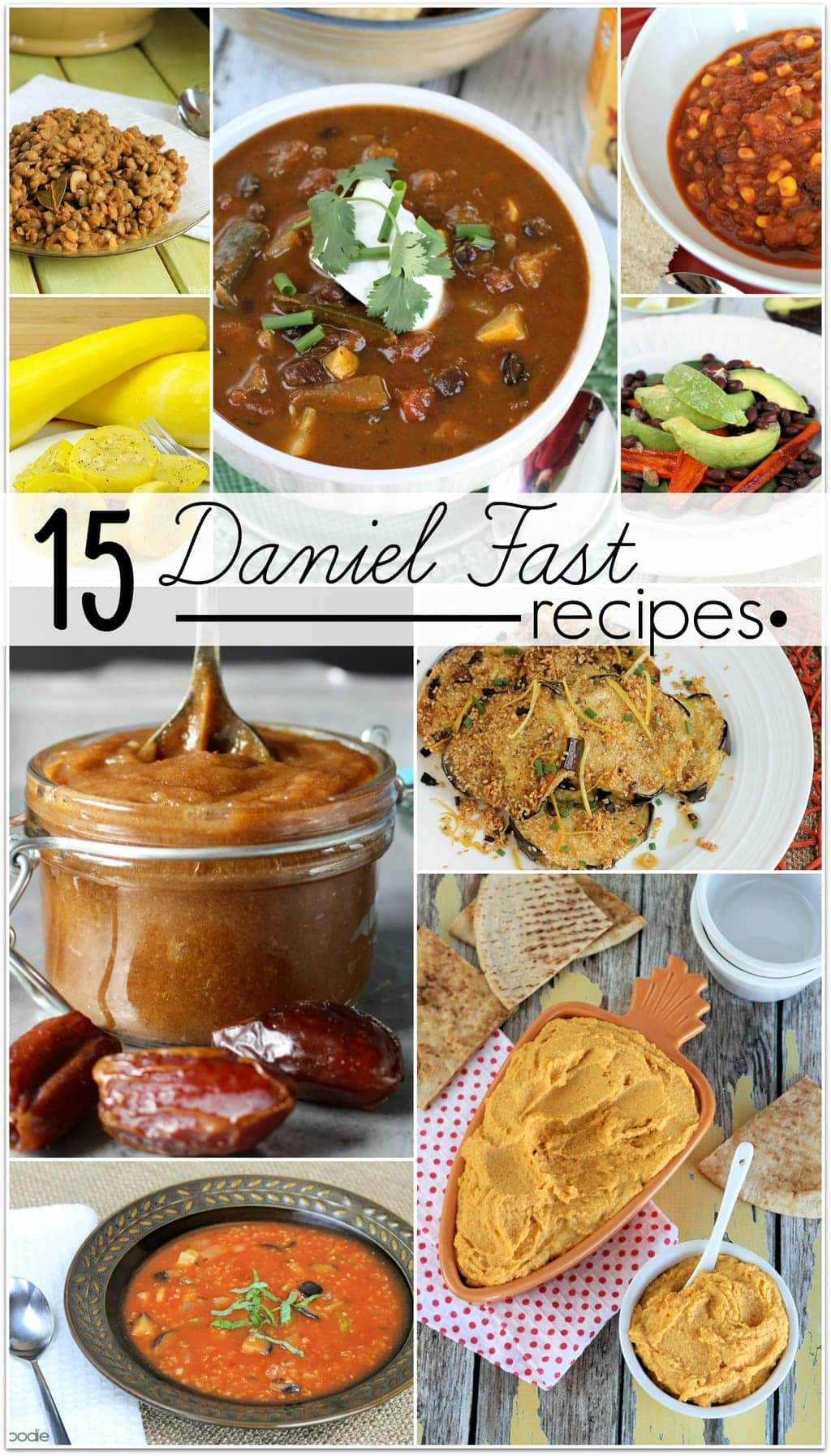 I've been collecting Daniel Fast recipes for a few years now. My husband and I have been doing the Daniel Fast every year in January. It started with our church taking part in it, and we loved it so much we have continued.
