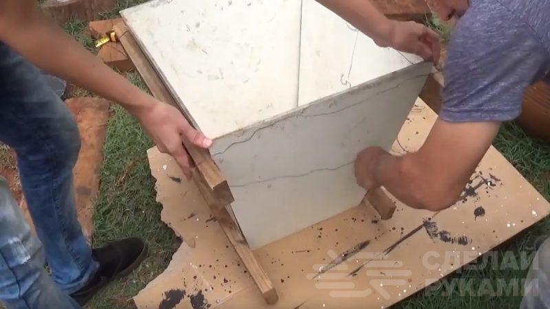 Как сделать вазон из цемента без заливки