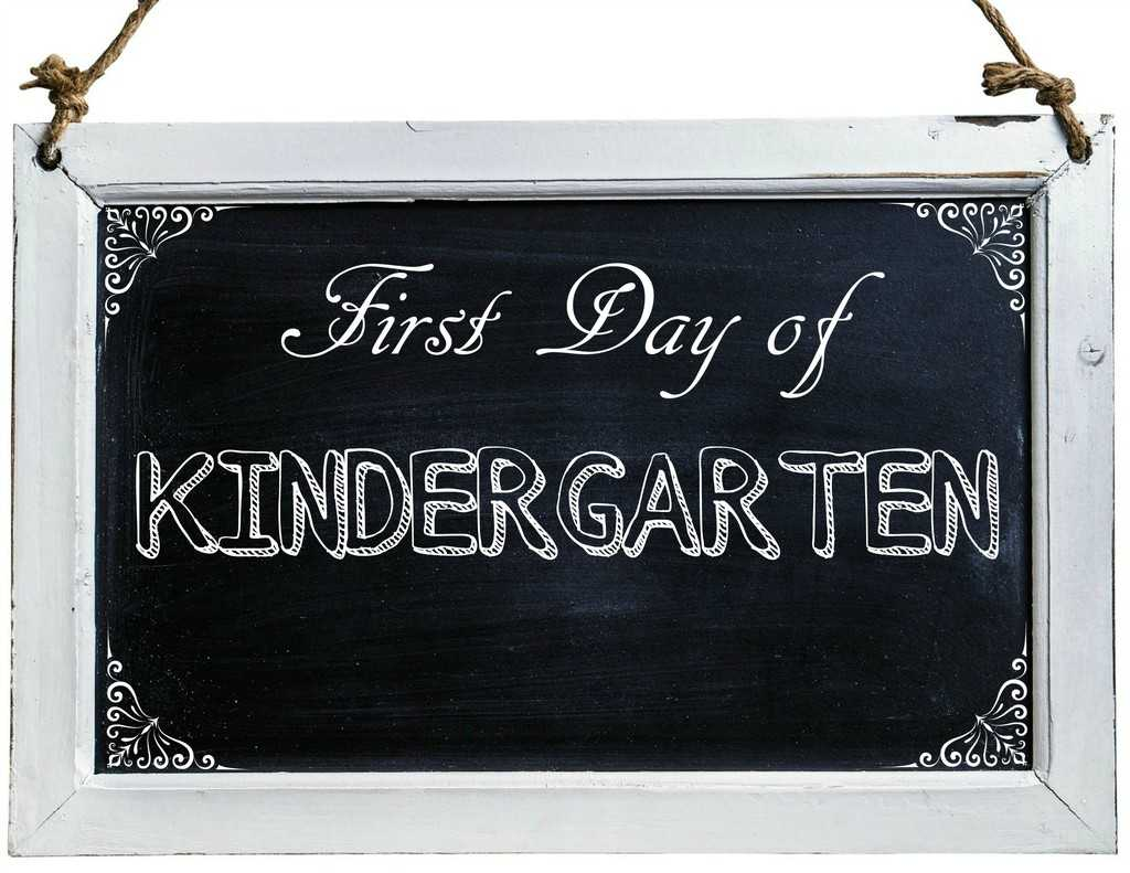 Free First Day of School Photo Printables-Kindergarten