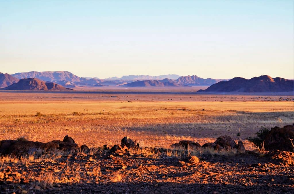Sundowner in der Namib