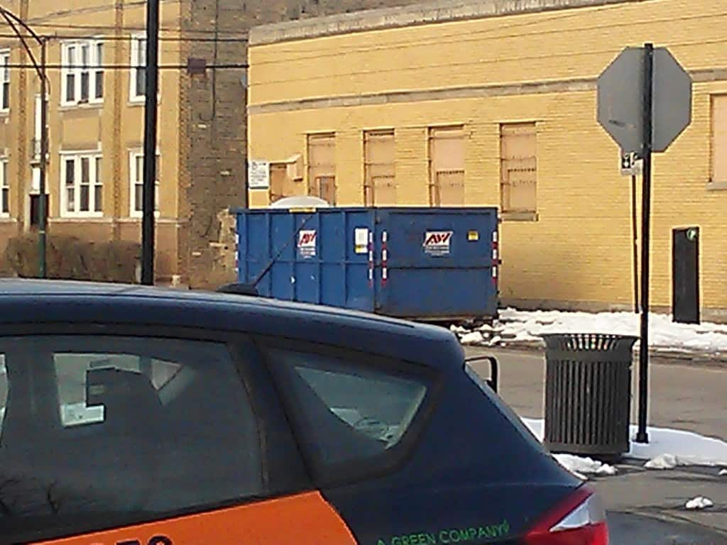 What size roll-off dumpster in Morrison