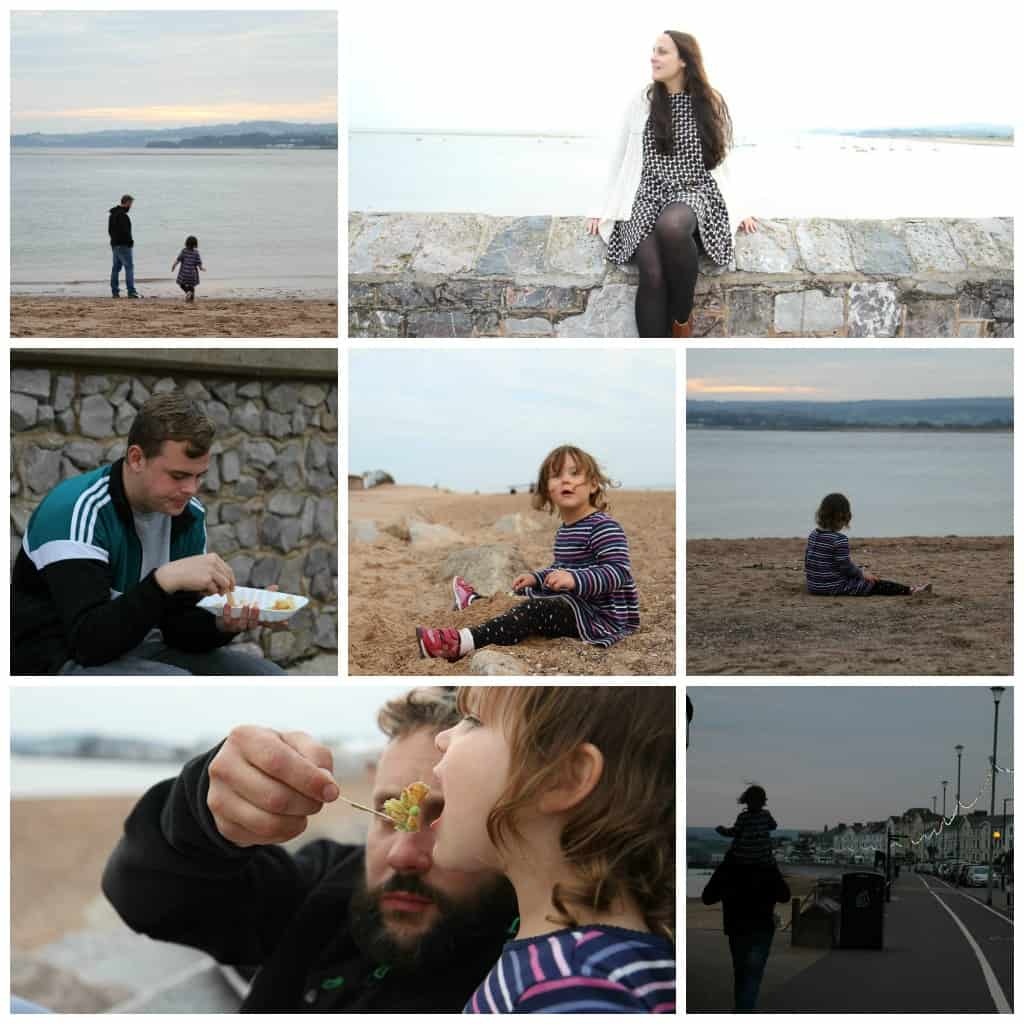 A few snaps from our trip to the beach near Crealy