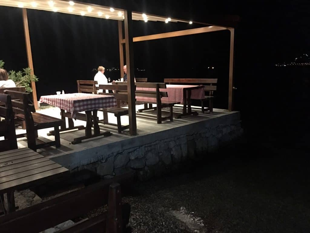 The restaurant table are just beside the water, the place is really simple but lovely