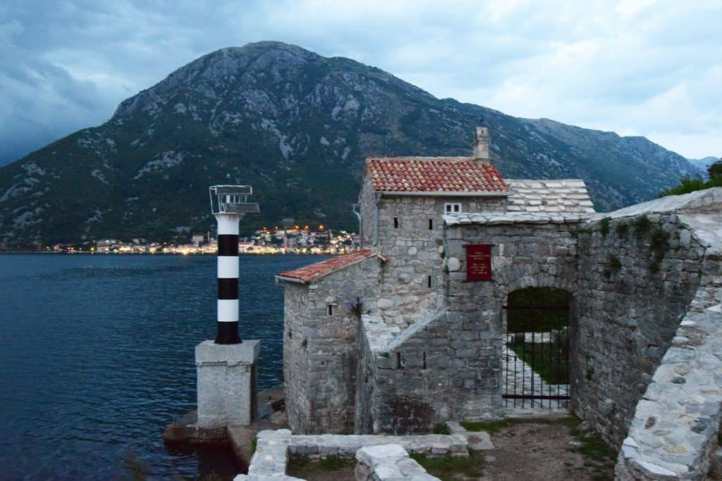 Driving around the bay of Kotor