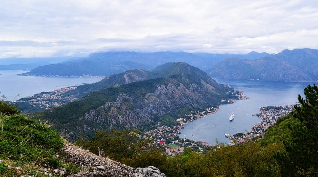 view of the bay of Kotor