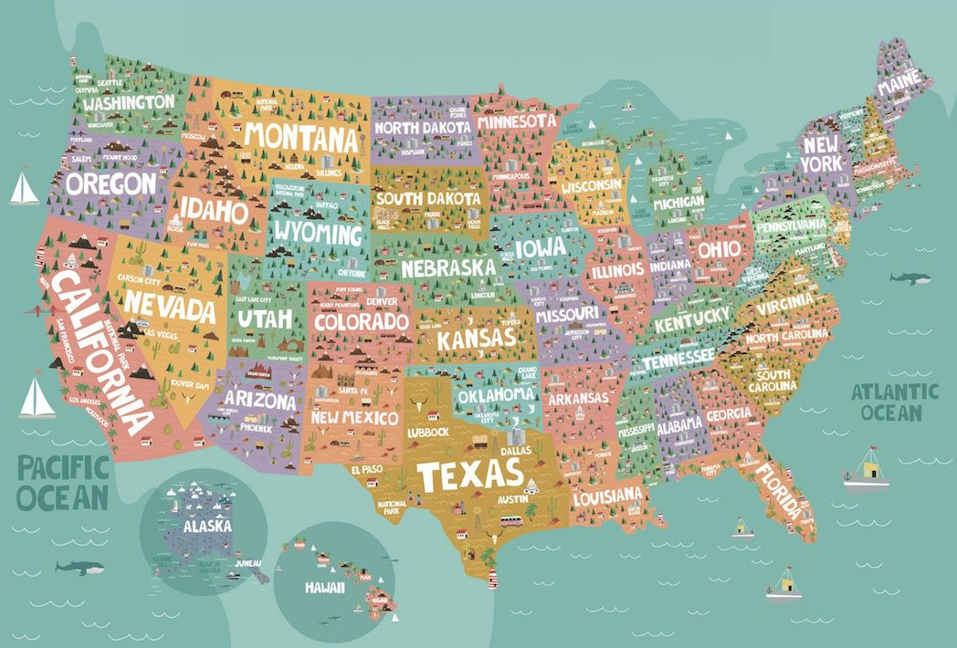 United States Map Graphic