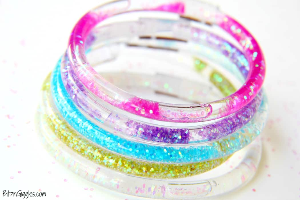 Water glitter friendship bracelets