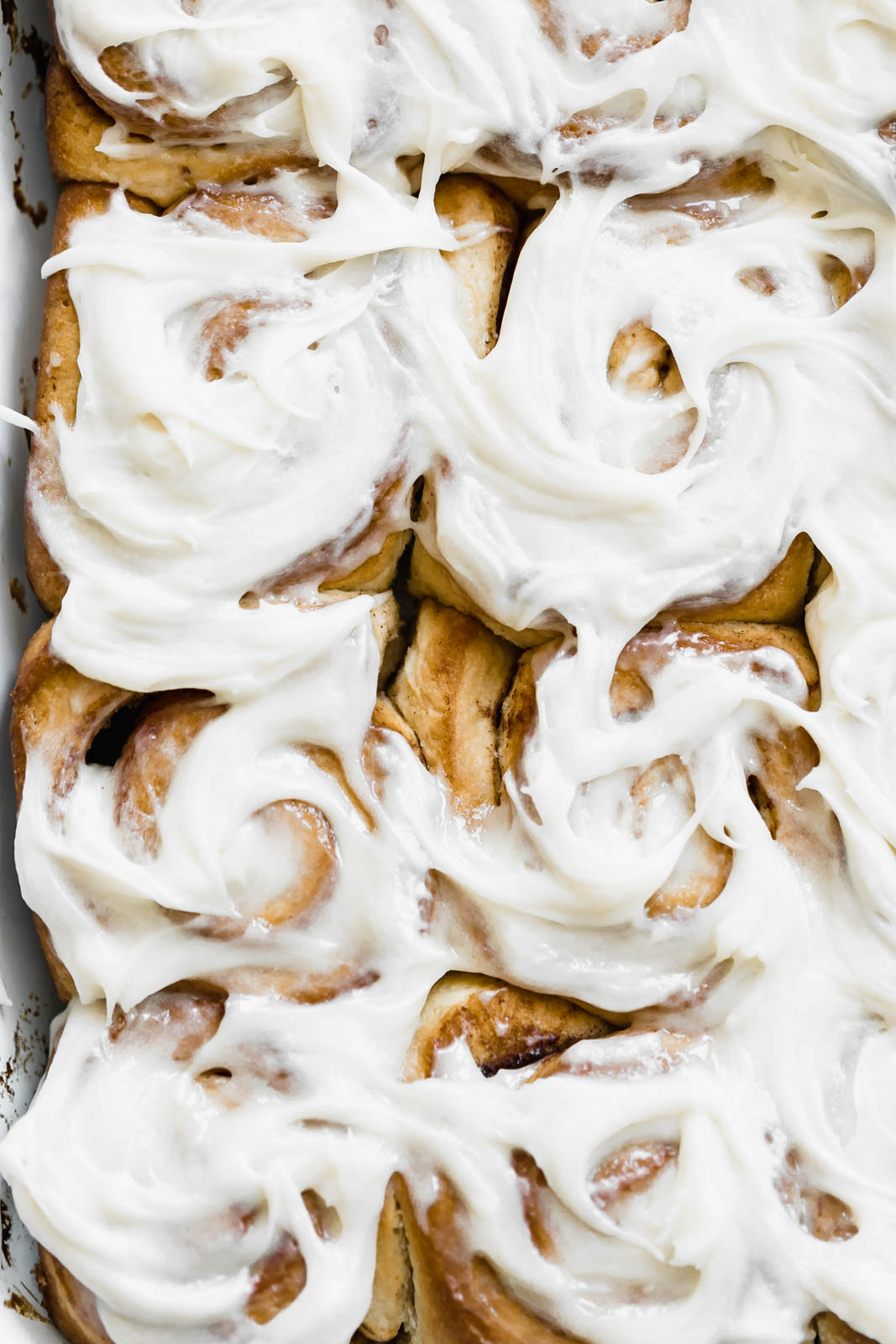 maple cinnamon sticky buns with cream cheese frosting