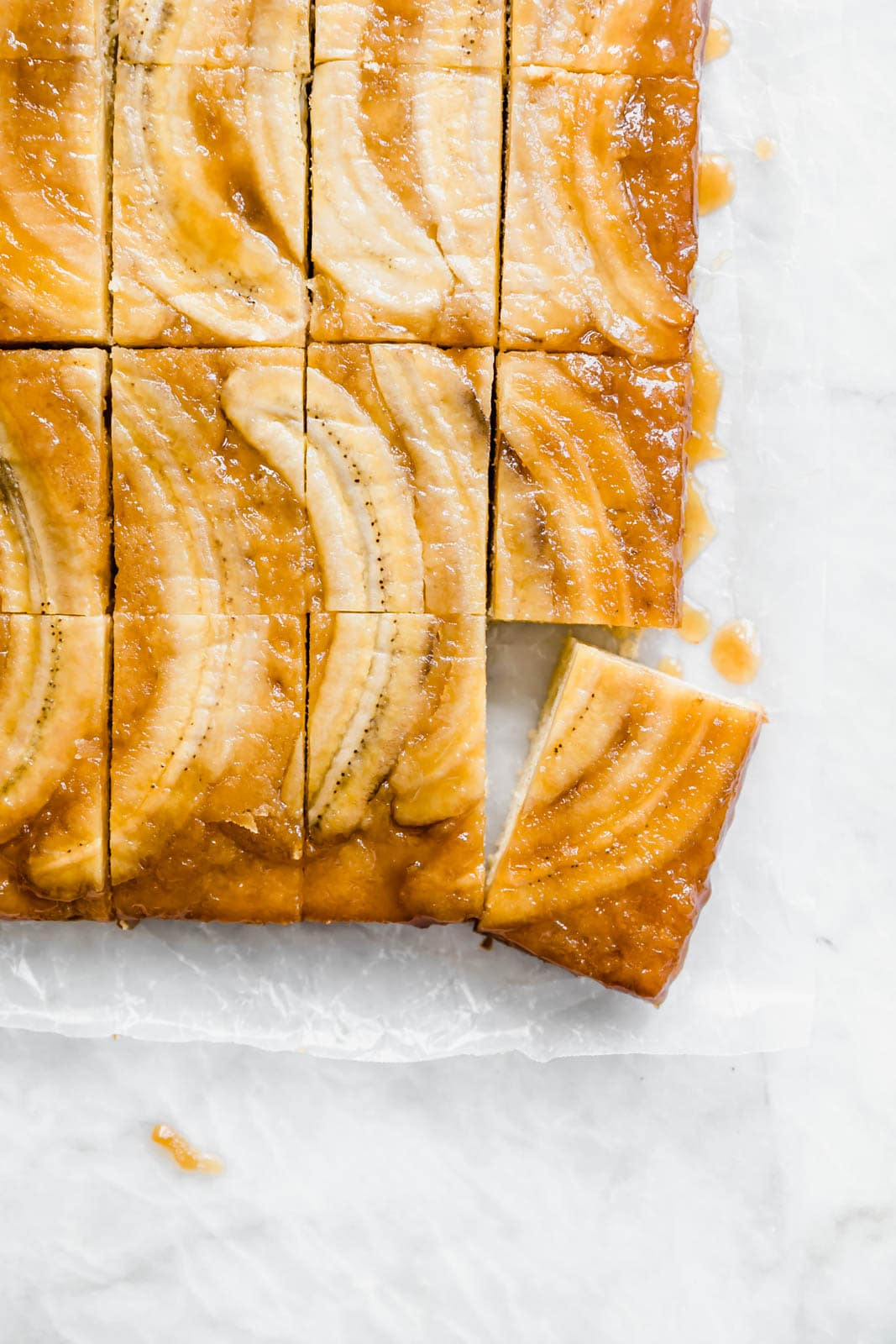 sliced Banana Upside Down Cake