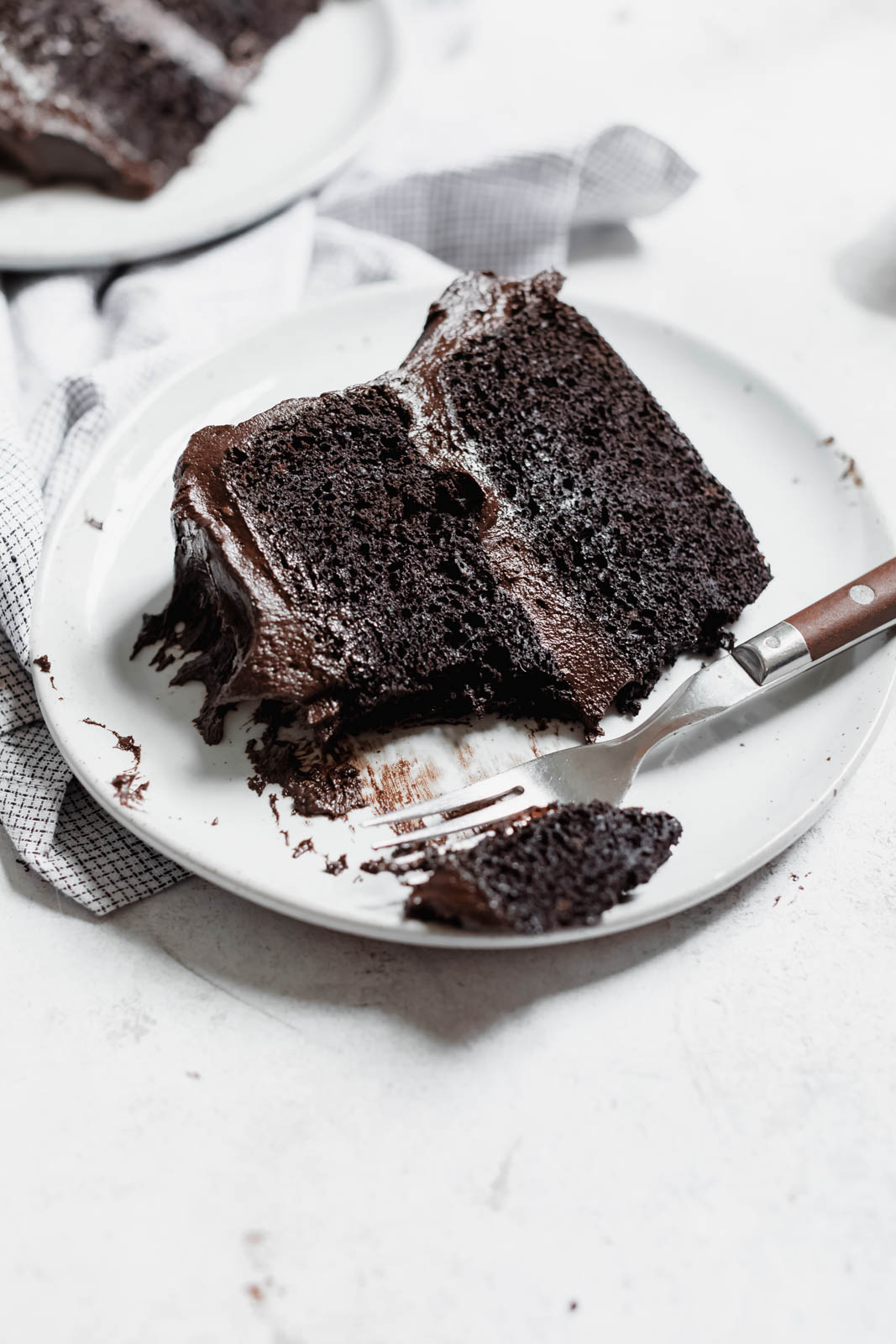 The Blackout Chocolate Cake to end all other chocolate cakes. Aka a moist as heck chocolate cake with a sinful chocolate buttercream frosting.