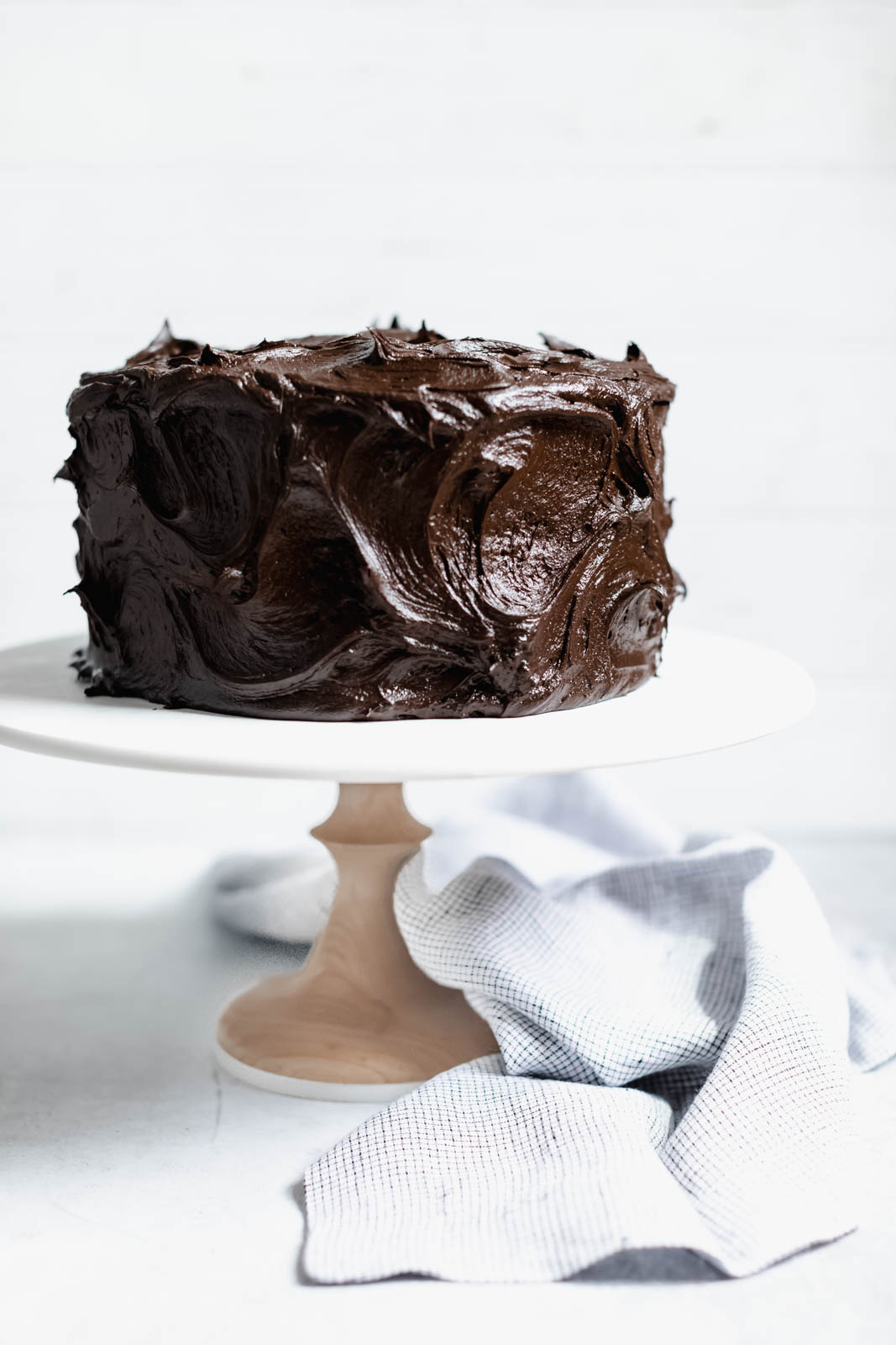 The Chocolate Blackout Cake to end all other chocolate cakes. Aka a moist as heck chocolate cake with a sinful chocolate buttercream frosting.