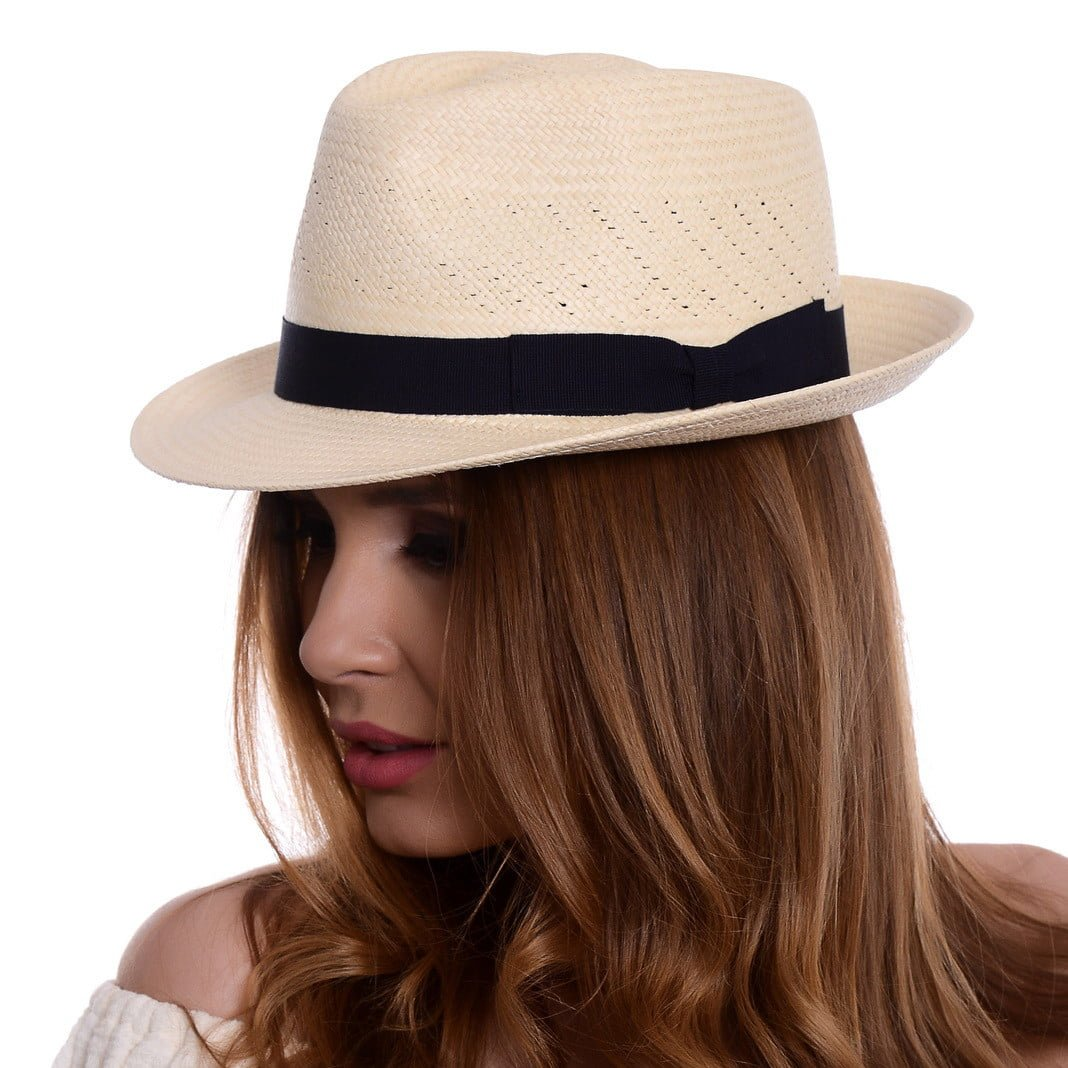 Pălărie Panama Marco naturale/nero