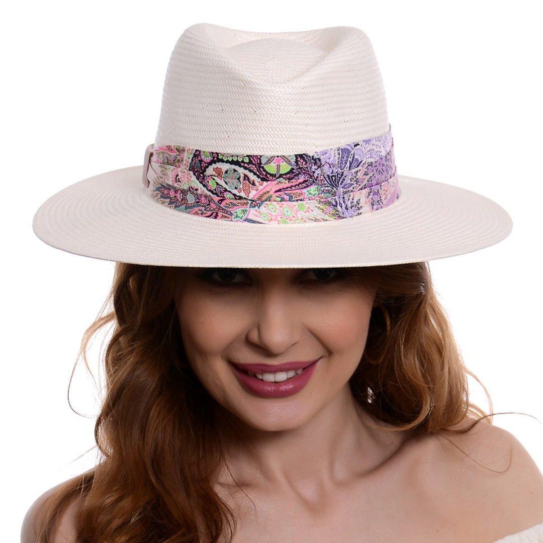 Pălărie Delice alb/roz hartie