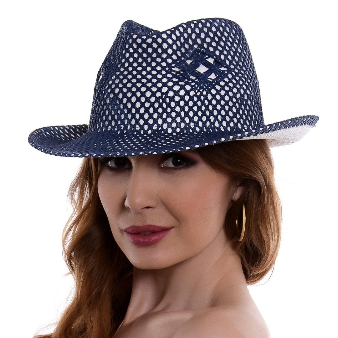 Pălărie Mozaik alb/albastru hartie