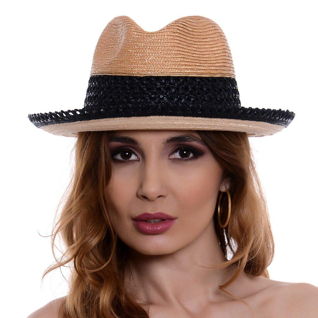 Pălărie Sky natural/negru