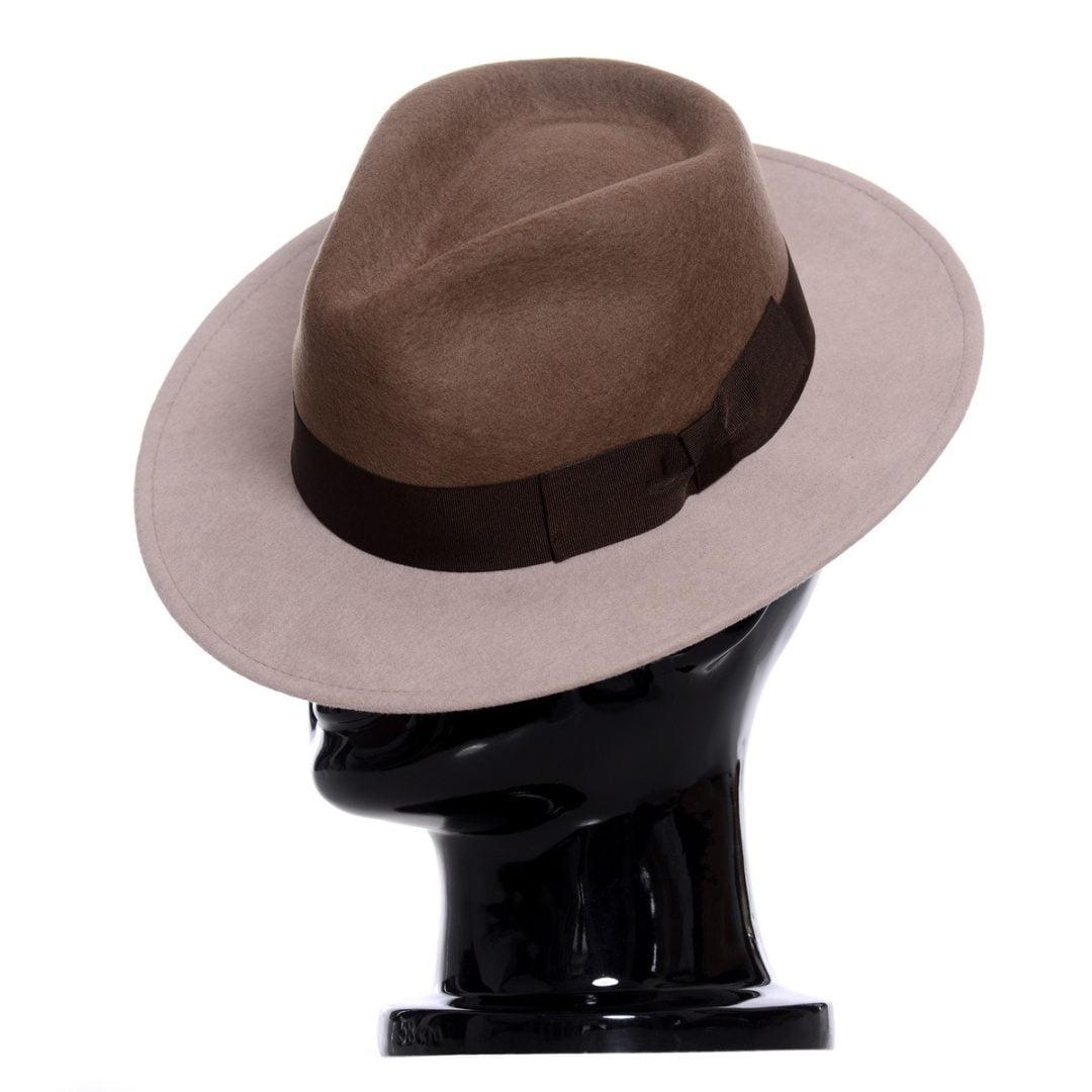 Pălărie Merlin-bej bicolore