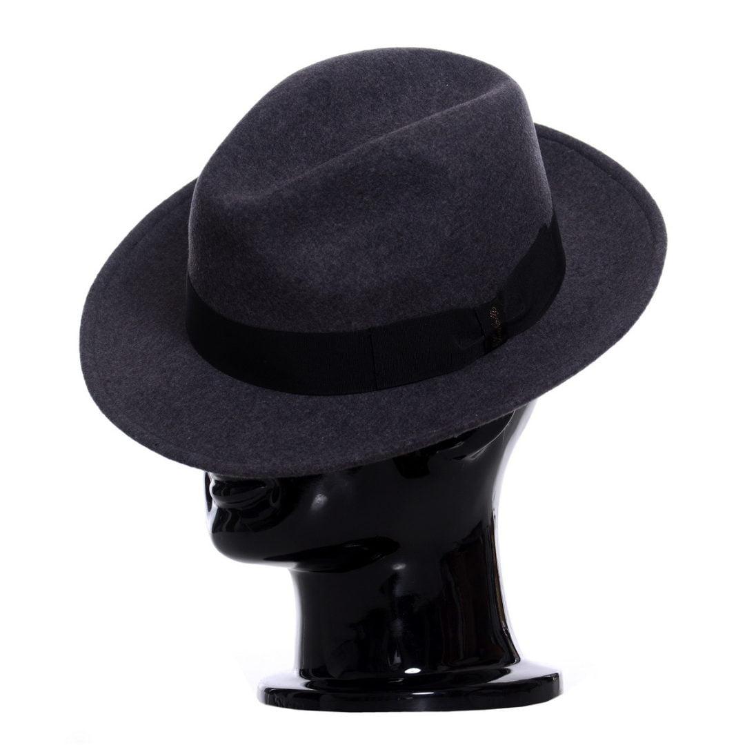 Pălărie AlCapone grigio melange