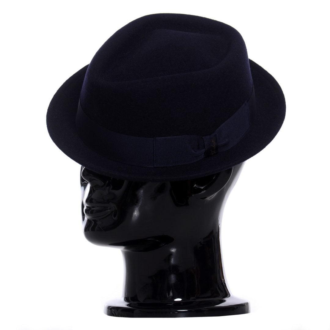 Pălărie pork-pie Frank-blu