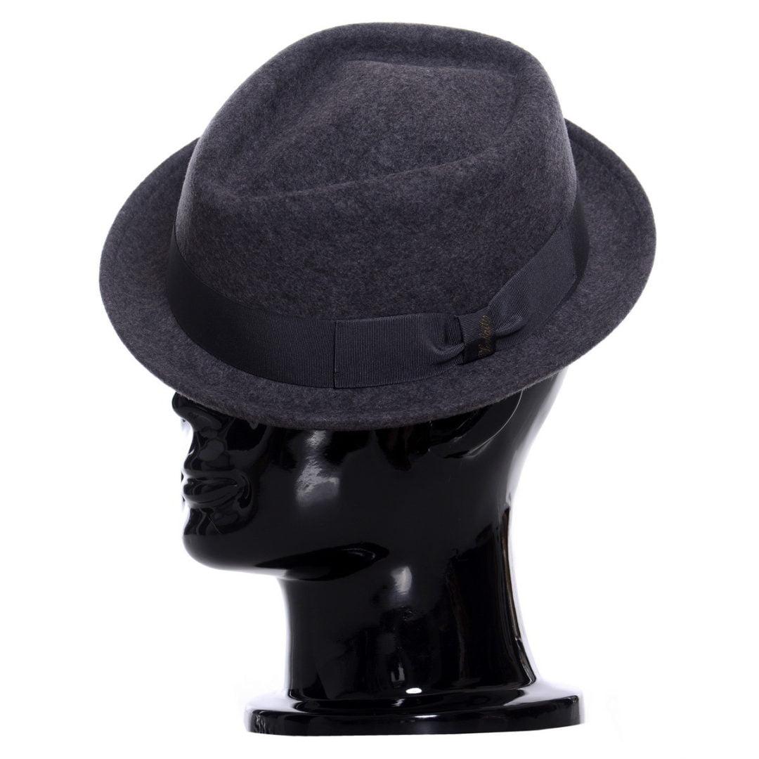 Pălărie pork-pie Frank-grigio