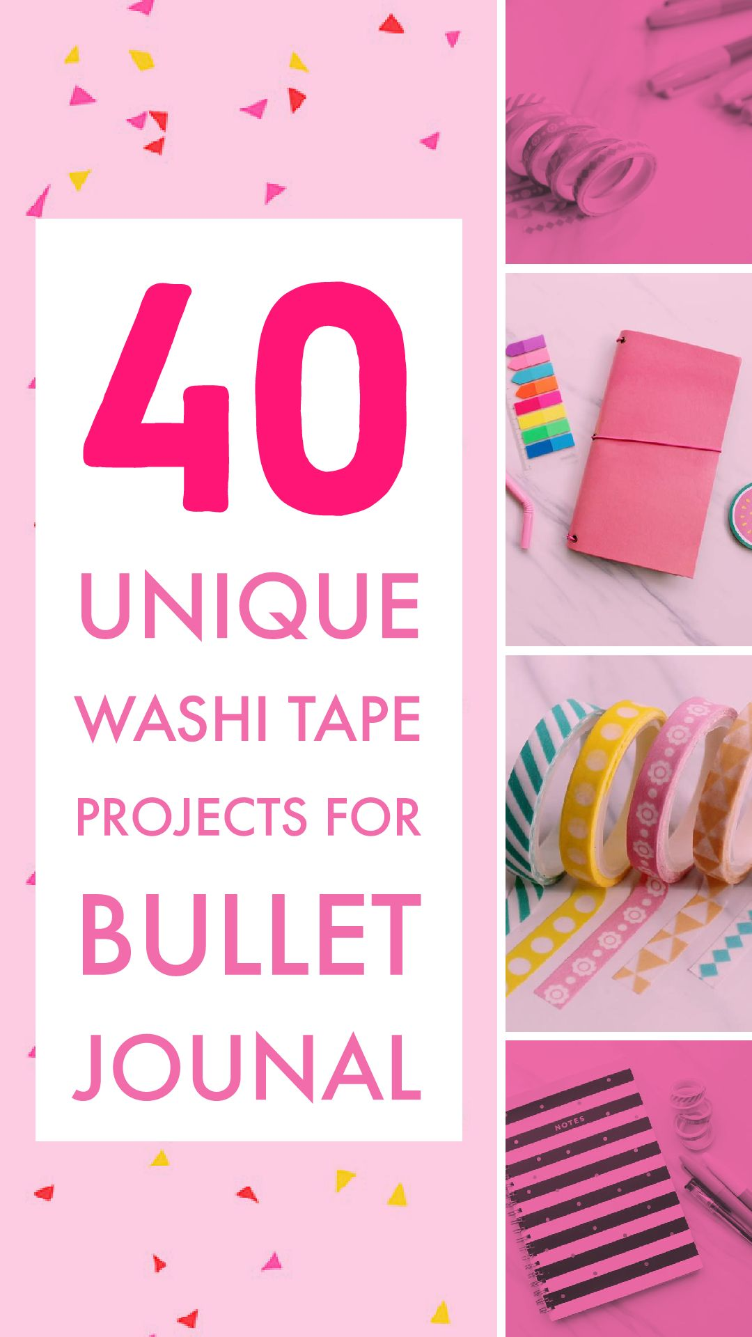 Amazing washi tape bullet journal projects for you to use your washi collection on your bujo.