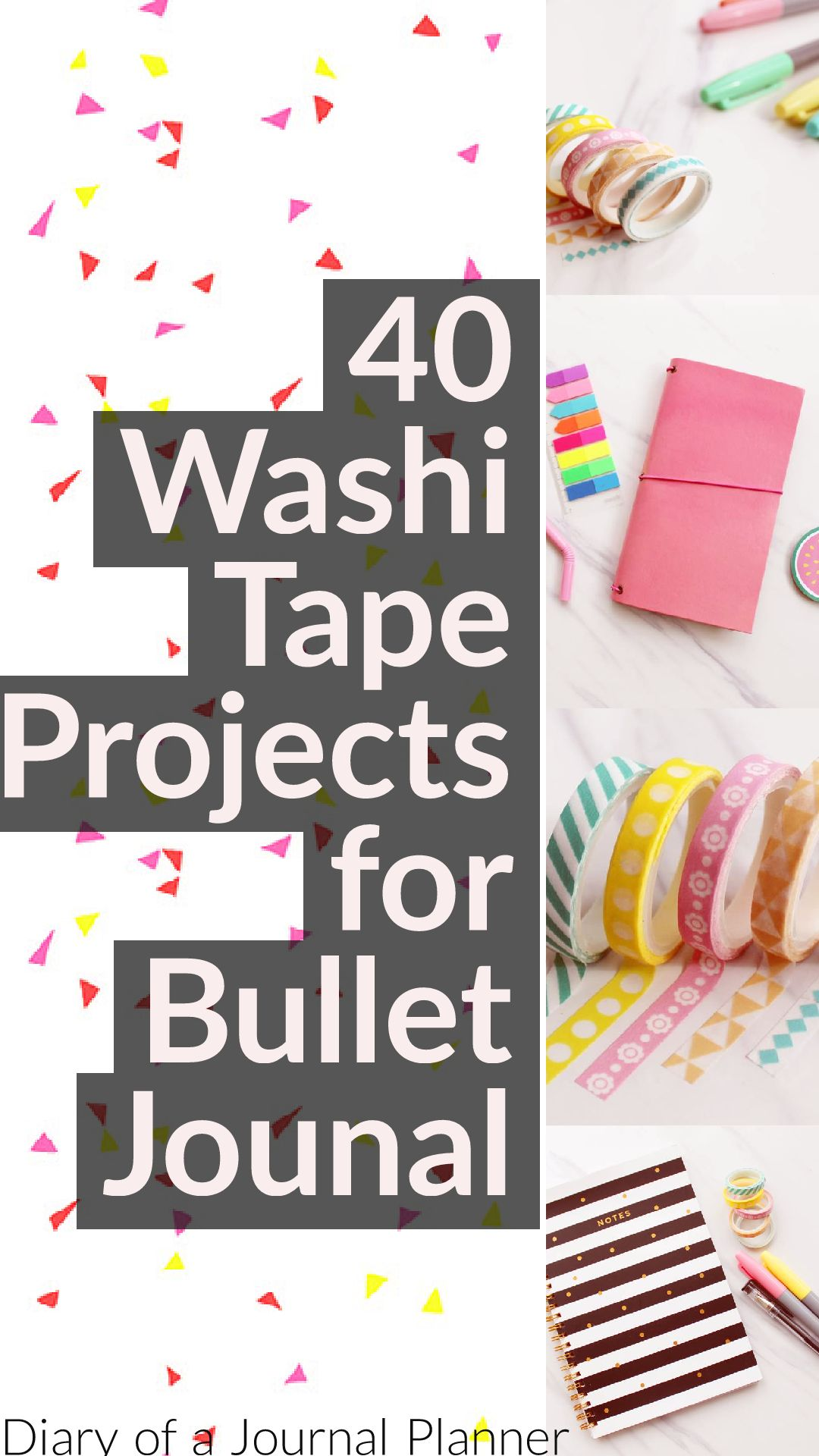 How to use washi tape in your bullet journal. many washi ideas and inspiration to decorate and imrpove your bullet journal pages