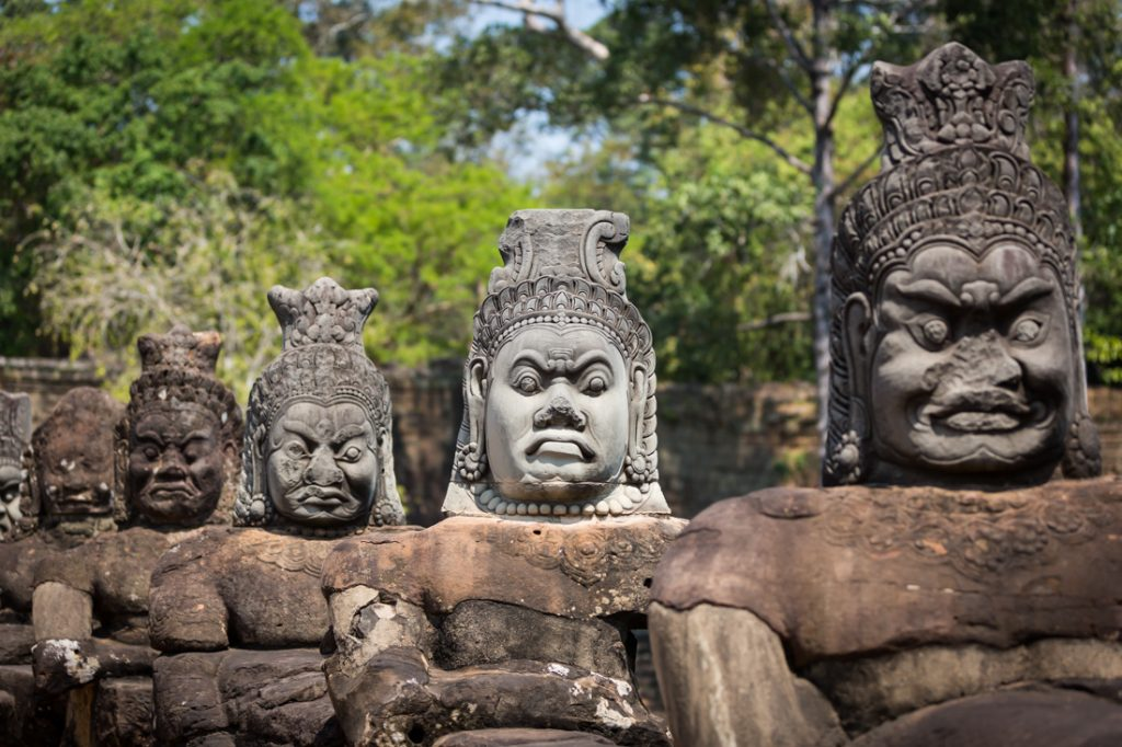 South gate of Angkor Thom for an Angkor Wat temple guide