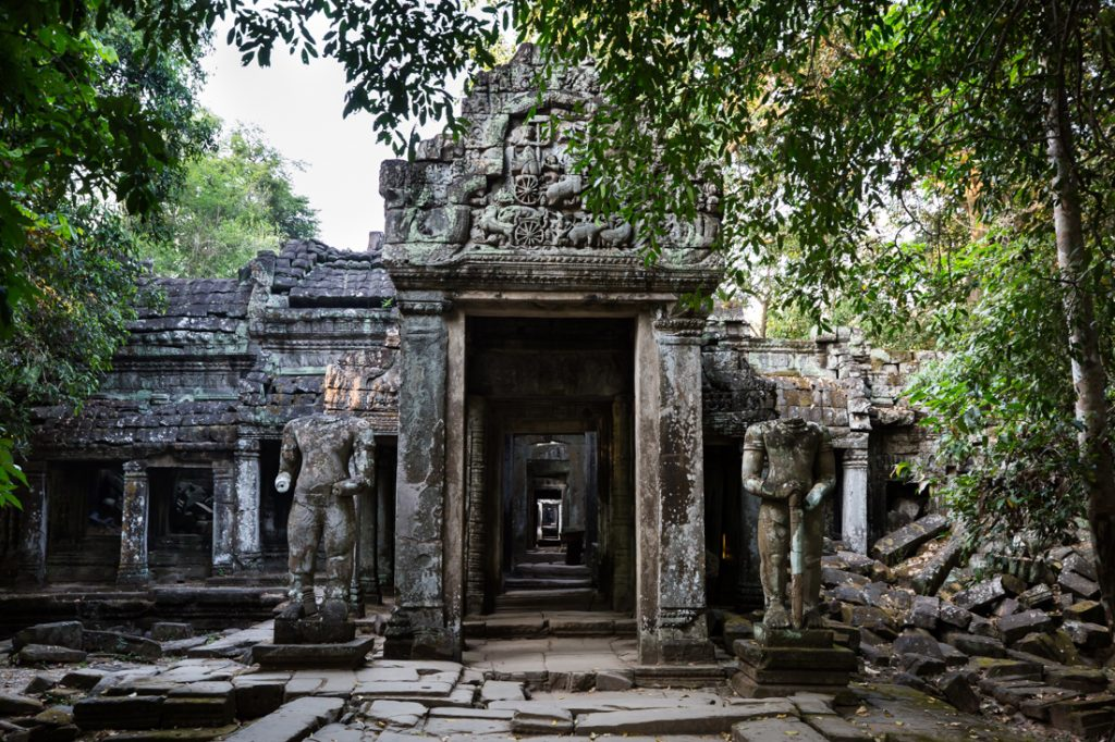Entrance to Preah Khan for an Angkor Wat temple guide