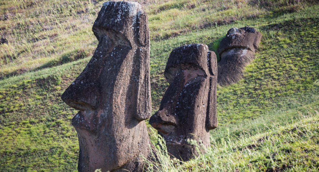 Moai statues at Rano Raraku for an Easter Island travel guide